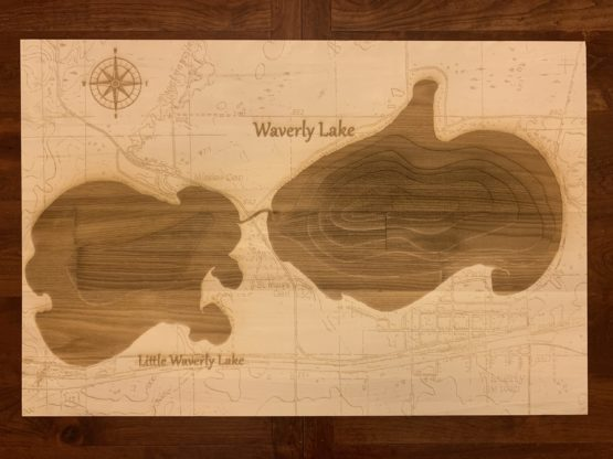 a collection of geographically intricate lakes